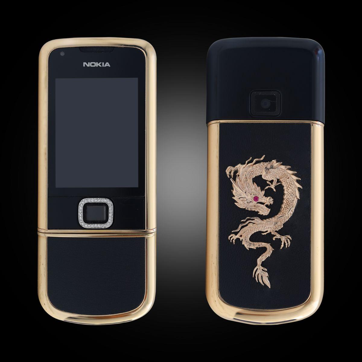 Nokia 8800 Rose Gold Đen đính rồng