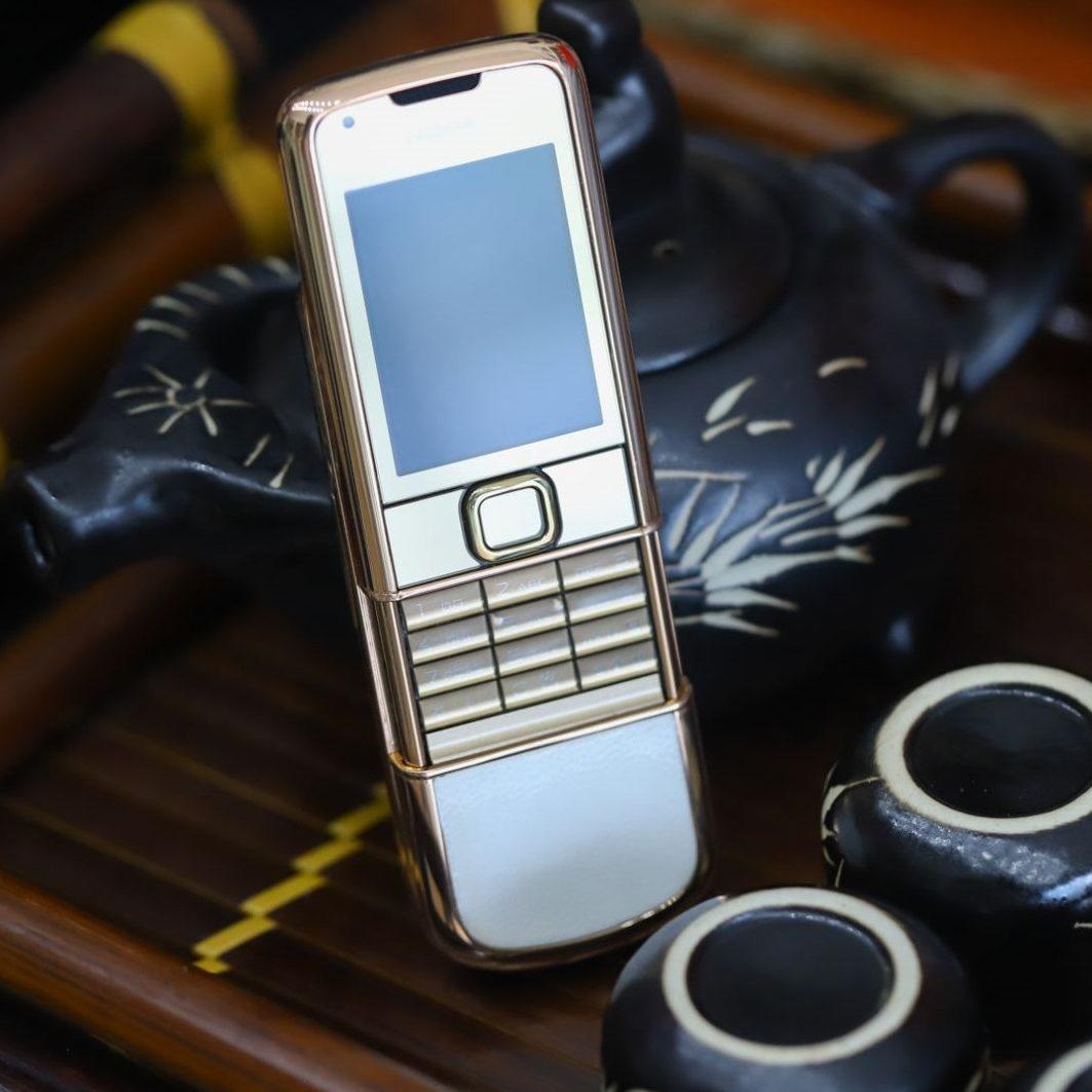 Nokia 8800E Rose Gold Vàng Hồng Da Trắng