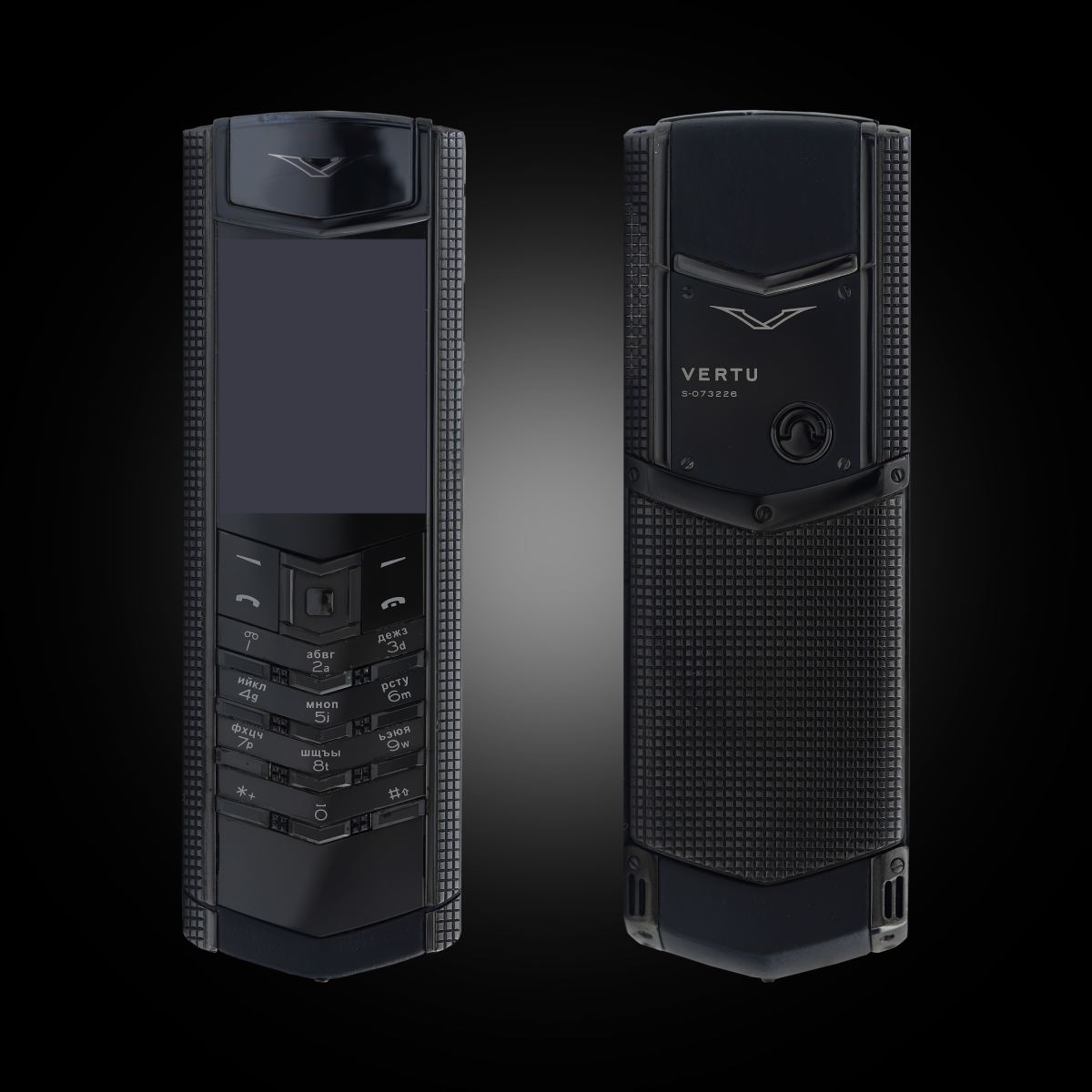 Vertu Signature S Clous De Paris Black 1