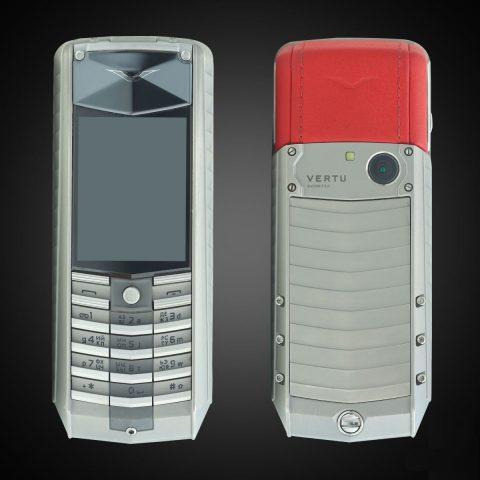 Vertu Ascent TI X red leather 2010 mới 90%